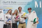 """Pricegiving 5. European Championship in """"Stationary Wave Riding"""" 2015 at the Munich Airport, Germany"""