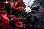 Bruno Hoffmann bei den Dreharbeiten zu Red Bull Devils Voice am Teufelsberg in Berlin