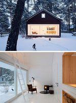 Snow Cabin House Caroline Gomez