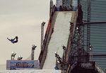Urban stunt flip.