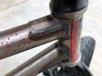 Der Morrow Frame V3 von Fiend BMX hat an Ober- und Unterrohr Gussets