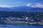 Vom Büro in Hood River hat man die beste Aussicht auf Mount Hood. Schöner kann man wohl nicht arbeiten.
