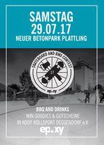 Am 29. Juli 2017 findet im Skatepark Plattling ein BMX- und Skatecontest statt, bei dem es Sachpreise vom Epoxy Boardershop zu gewinnen gibt