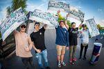 Die Top 5 in Pro Park auf dem Butcher Jam 2017 sind (v.l.n.r.): James Jones, Timo Schulze, Paul Thölen (1.), Tobias Freigang und