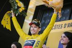 Greg Van Avermaet (BMC Racing) konnte das gelbe Trikot wieder erfolgreich ins Ziel bringen und trägt es für einen weiteren Tag. Seine Rivalen indessen machten viele Zeiteinbußen.(Foto: © ASO)