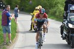 Jungels begann seinen Siegeszug auf dem Côte de Roche-aux-Faucons. Sein mutiges Manöver zahlte sich aus: Der Luxemburger konnte seinen Abstand bis zum Ziel halten. (Foto: Sirotti)