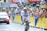 20. Etappe - Für die 54 Kilometer lange Zeitfahrstrecke von Bergerac nach Périgueux benötigte Tony Martin (Omega Pharma-Quick Step) nur 1:06,21 Stunden und ist damit unschlagbar schnell - Etappensieg Nummer 2 ihn. (Foto: Sirotti)