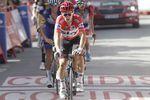 Michal Kwiatkowski (Team Sky) konnte seine Führung und das rote Trikot einen weiteren Tag verteidigen, aber es liegen nach der 4. Etappe nur sieben Sekunden zwischen dem Führer des Gesamtklassement und Emanuel Buchmann (Bora-Hansgrohe) auf Platz zwei. (Foto: Sirotti)