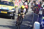 Primos Roglic fuhr ein starkes Rennen und sicherte sich den dritten Platz der Gesamtwertung in seiner ersten Grand Tour. Foto: Sirotti