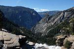 Hike mit zwei Wasserfällen im Yosemite National Park (einer der wenigen Tage, an denen wir nicht mindestens an 2 Spots zum Radfahren gehalten haben)
