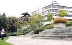 Achtung Wortspiel! Kilian bezwingt das Friedrichshafener Roth-Gap; Foto: Silas Neidhart