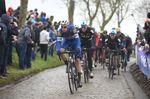 Endlich mal wieder Klassikerwetter bei der Flandernrundfahrt: Das feuchte Kopfsteinpflaster veranlasste die Fahrer, das Rennen taktischer zu gestalten. (Foto: Sirotti)