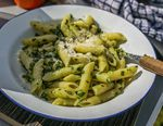 Van Life Camping Recipe Wild Garlic Pesto Pasta