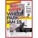 Achtung, Terminänderung: Der Wheelpark Jam wird wetterbedingt auf Sonntag, den 8. September 2019 verschoben!