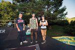 Die Gewinner des EX&HOP Wheel of Fortune Contest 2014 (v.l.n.r.): Tyron Zimmermann (3.), Stephan Götz (1.) und Jonas Lindemair (2.)