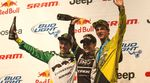 Siegerehrung Enduro World Series Whistler Clementz Graves Nicoll