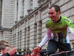 Ivan Basso bei der Giro-Präsentation von Cannondale 2014. Er wird von Cannondale zu Tinkoff-Saxo wechseln.