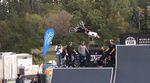 Logan Martin und Konsorten sind während des Trainings für den UCI BMX Freestyle Park World Cup @ FISE Edmonton ordentlich steil gegangen.