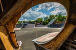 """Blick aus einem der neuen """"Speedcowboys"""" im Skatepark Wendelstein"""