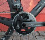 Am getesteten Fahrrad verrichtete die kabellos schaltende SRAM-Force-eTap-Gruppe ihren Dienst.