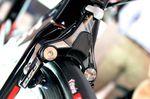 Neue Bremsen für das De Rosa King XS. Die letzten Tests waren zur Eurobike noch nicht abgeschlossen.