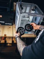 Frischer Sample des Cranger Guard Sprockets von Erigen BMX aus dem 3D-Drucker