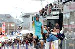 Maxim Iglinski (Astana) bei seinem Sieg von Lüttich-Bastogne-Lüttich 2012