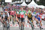 16-09-2018 Vuelta A Espana; Tappa 21 Alcorcon - Madrid; 2018, Quick Step - Floors; 2018, Bora - Hansgrohe; Viviani, Elia; Sagan, Peter; Madrid;