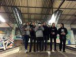 Die Gewinner der Amateurklasse bei der Last Boost Session (v.l.n.r.): Simon Huddl (6.), Oliver Frömter (5.), Sebastian Gerlich als Kalle Frank (1., war bereits abgereist), Benedikt Krug (4.), Marvin Kopka (3.), Kai Schulte-Lippern (2.)