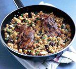 Van Life Camping Recipe One Pan Lamb and Couscous