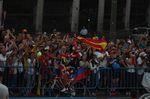 Alberto Contador feierte gebührend Abschied. Für ihn markierte die Ankunft in Madrid das Ende seiner Karriere im Profiradsport. (Foto: Sirotti)