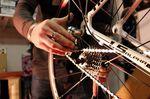 Es ist deutlich leichter die Bremsbeläge zu wechseln wenn man das Rad vorher aus dem Rahmen entfernt.