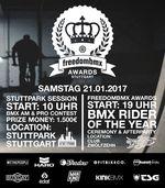Am 21. Januar 2017 küren wir in Stuttgart die Gewinner der freedombmx Awards 2016. Hier findest du die wichtigsten Infos zur BMX-Party des Jahres.