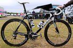 Das Trek Madone 7 von Jens Voigt auf der Tour de France 2014.