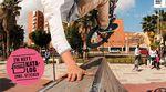 Fernando Laczko macht für das Cover der freedombmx 118 einen Handplant in einem runtergerockten Park in Malaga