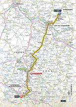 Tour de France 2017: 11. Etappe, Eymet – Pau. (Quelle: Geoatlas)