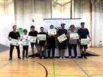 Die Gewinner der Proklasse bei der 1. offenen BMX-Landesmeisterschaft von Sachsen-Anhalt