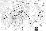 How are waves formed? A surface pressure chart forecasting good waves for Cornwall