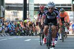 Auf dem Foto sieht man Graham Briggs bei einem Crit-Race. Nach seiner dreiwöchigen Pause Ende letzten Jahres stieg er fit und erholt wieder auf sein Rennrad. (Foto: ©Roz Jones)