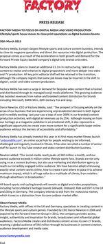 Factory Media Press Release