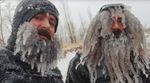 ice beard surfers