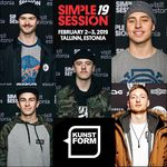Felix Prangenberg, Miguel Smajli, Robin Kachfi und Felix Donat werden auf der Simple Session 2018 in Estland den kunstform BMX Shop representen