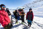A bunch of Snowmads: Roman Rohrmoser, Neil Williman, Markus Ascher, Jules Zenzmaier, Faban Lentsch