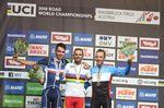 30-09-2018 World Championships Elite; 2018, Movistar; 2018, Ag2r La Mondiale; 2018, Ef Education First - Drapac Cannondale; Valverde, Alejandro; Bardet, Romain; Woods, Michael; Innsbruck;