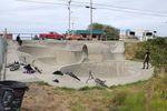 Der Gold Beach Skatepark in Oregon liegt direkt an dem U.S. Highway 101, der die gesamte Westküste am Meer runterläuft
