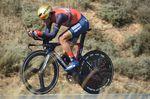 Vincemzo Nibali fuhr ein starkes Zeitfahren, konnte sich aber gegen Froome nicht durchsetzen und erzielte nicht sein erhofftes Ziel, den Zeitrückstand auf Froome auf 30 Sekunden zu reduzieren. (Foto: Sirotti)