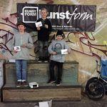 Die Gewinner der Kids-Klasse bei der Last Boost Session sind (v.l.n.r.): Louis Trieb (3.), Moritz Kuhn (1.) und Mika Köhler (2.)