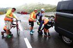Markus Hagers Team kümmert sich um das Rennrad und um den Kleidungswechsel. (Foto: Felix Roittner)