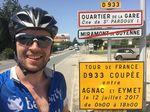 Ein wenig Tourluft hat Jonas während seiner 100 Kilometer entlang der 11. Etappe in Frankreich schnuppern können.
