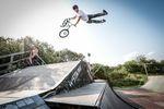 Maximale Streckung von Paul Janda im Skatepark Wendelstein